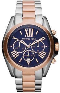 腕時計 ウォッチミハエルトーンローズゴールド michael kors mk5606 two tone rose gold bradshaw  watch  2 year warranty