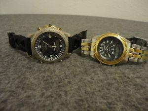 【送料無料】腕時計 ウォッチメンズウォルサムトロンヴィンテージクロノグラフバッテリset mens waltham xax40t amp; armitron 202397 vintage chronograph watches batt