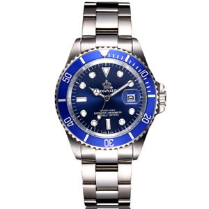 【送料無料】腕時計 ウォッチフルスチールメンズウォッチラグジュアリークオーツクロックメートルウォータースポーツ