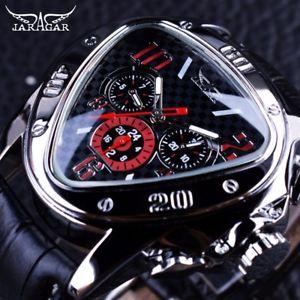【送料無料】腕時計 ウォッチスポーツレーシングクリスマスプレゼントjaragar genuine leather sport racing design geometric men xmas gifts for him son