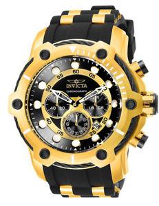 【送料無料】腕時計 ウォッチメンズボルトクロノステンレススチールポリウレタンウォッチinvicta mens bolt chrono gold plated stainless steel polyurethane watch 26751