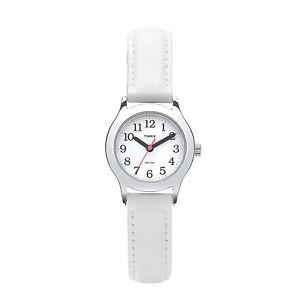 【送料無料】腕時計 ウォッチtimex girls easy reader watch t79101 white strap 30m wr