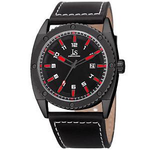 【送料無料】腕時計 ウォッチ#ジョシュアクォーツムーブメントストラップウォッチmen039;s joshua amp; sons jx120rd quartz movement date genuine leather strap watch