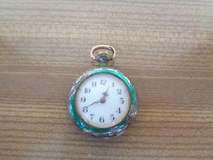 【送料無料】腕時計 ウォッチノートルダムデュキャップスイスアルジェントドーレancienne montre gousset swiss argent dor porcelaine mail poinon restaurer