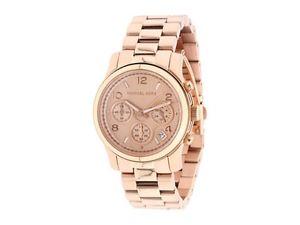 【送料無料】腕時計 ウォッチミハエルローズゴールドブレスレットクロノドルnib michael kors womens watch rose gold ss bracelet chrono runway mk5128 250