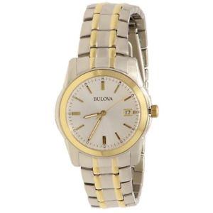 【送料無料】腕時計 ウォッチメンズトーンステンレススチールアナログウォッチbulova mens 98h18 two tone stainless steel analog watch