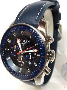 腕時計 ウォッチゲートクロノペレブルシモorologio locman aviatore chrono 44mm acciaiopelle blu 580 scontatissimo
