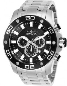 【送料無料】腕時計 ウォッチメンズプロダイバークォーツクロノグラフステンレススチールinvicta mens pro diver quartz chronograph 100m stainless steel watch 26074