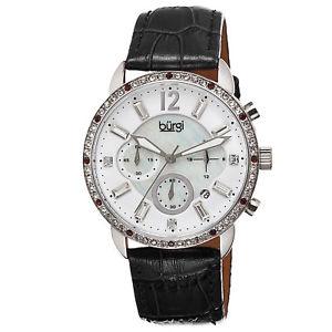 【送料無料】腕時計 ウォッチバールクリスタルクロノグラフブラックストラップウォッチ