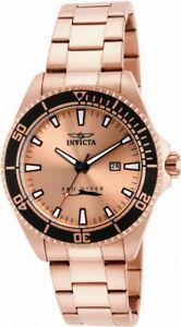 【送料無料】腕時計 ウォッチプロダイバーメンズラウンドブラシローズゴールドトーンアナログinvicta pro diver 15185 mens round brushed rose gold tone analog date watch