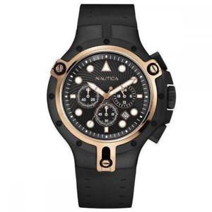 【送料無料】腕時計 ウォッチクロノシリコーンサブorologio uomo nautica nsr 06 a28506g chrono silicone nero ros sub 100mt