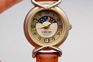 【送料無料】腕時計 ウォッチレディースチェロキームーンフェイズladies cherokee moonphase watch with date working