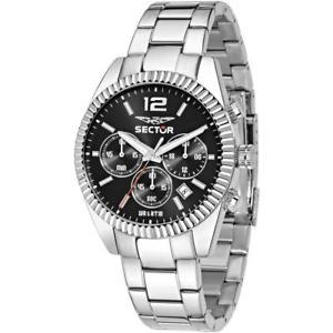 【送料無料】腕時計 ウォッチセクタークロノサブメートルorologio uomo sector 240 r3273676003 chrono bracciale acciaio nero sub 50mt