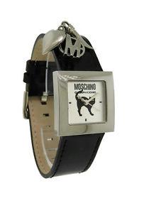 【送料無料】腕時計 ウォッチモスキーノスクエアアナログパテントレザーステンレススチールmoschino mw0027 womens square analog patent leather stainless steel charm watch