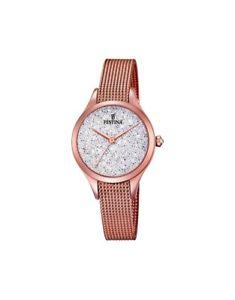 【送料無料】腕時計 ウォッチマドモアゼルスチールスワロフスキーローズゴールドorologio festina mademoiselle steel swarovski f203381 rose gold