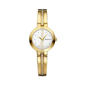 【送料無料】腕時計 ウォッチレディーススチールケースクォーツゴールドブレスレットウォッチrodania nala 2499660 ladies 26mm gold steel bracelet amp; case quartz watch
