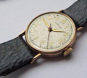 【送料無料】腕時計 ウォッチヴィンテージゴールドメンズジュエルvintage 9ct gold mens alprosa 15 jewel wrist watch