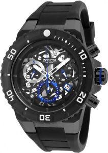 【送料無料】腕時計 ウォッチメンズプロダイバークロノブラックステンレススチールシリコンウォッチ