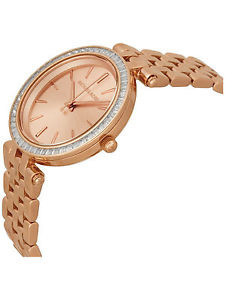 Watch watch Michael Rose gold stainless steel mini Lady's michael kors mk3366 mini darci damen uhr rose gold edelstahl