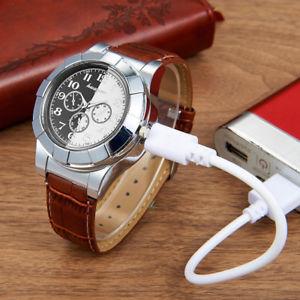 【送料無料】腕時計 ウォッチファッションライターカジュアルfashion rechargeable usb lighter watches men electronic mens casual quartz w