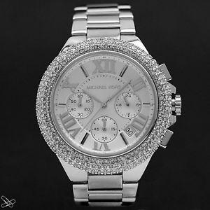 【送料無料】腕時計 ウォッチミハエルカミーユクロノグラフウォッチカラーシルバークリスタルトリムmichael kors mk5634 damenuhr camille chronograph farbe silber kristall besatz