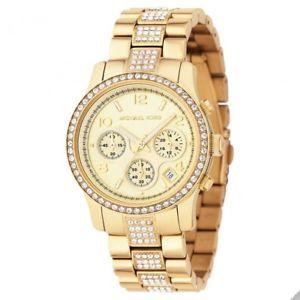 【送料無料】腕時計 ウォッチミハエルレディースクロノグラフゴールドトーンステンレススチールmichael kors womens chronograph goldtone stainless steel watch mk5109