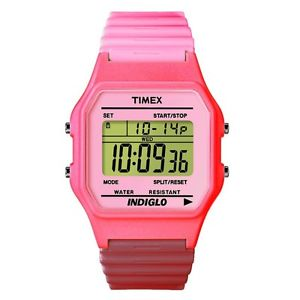 【送料無料】腕時計 ウォッチウォッチピンククラシックピンクデジタルtimex orologio watch t2n209 rosa gomma multifunzione t80 classic pink digitale
