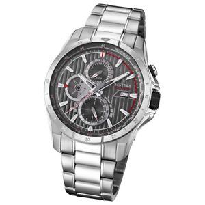 【送料無料】腕時計 ウォッチクオーツステンレススチールシルバーfestina herrenuhr multifunktion f169952 quarz edelstahl silber uf169952
