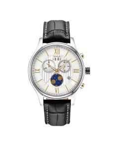 【送料無料】腕時計 ウォッチセルッティメンズウォッチクロノステュディオアナログクロノグラフムーンcerruti 1881 herrenuhr chioggia chrono cra119stu07bk analog chronograph,mondphas