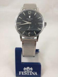 【送料無料】腕時計 ウォッチレトロビンテージorologio festina f202504 nero grigio retro vintage