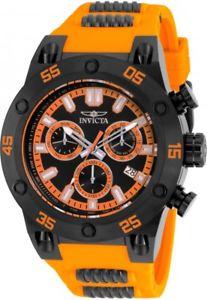 【送料無料】腕時計 ウォッチメンズスピードウェイクロノグラフオレンジラバーストラップウォッチ mens invicta 19850 speedway chronograph orange rubber strap watch