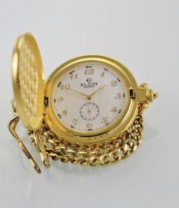 【送料無料】腕時計 ウォッチポケットメンズホワイトウォッチゴールドバッテリークォーツステンレス