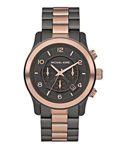 【送料無料】腕時計 ウォッチミハエルトーンクロノグラフメンズブラックローズゴールドウォッチ