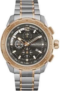 【送料無料】腕時計 ウォッチメンズステンレススチールクロノグラフmens nautica nst 10 ext stainless steel chronograph watch nad26503g