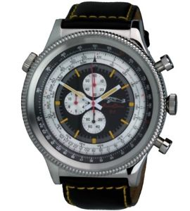 【送料無料】腕時計 ウォッチレトロクロノグラフコンピューティングディスクretrochron xxl militruhr rechenscheibenchronograph 55mm quarzuhr