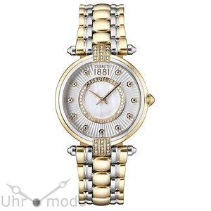【送料無料】腕時計 ウォッチレディースクリスタルトリムポンドステンレススチールウォッチcerruti damenuhr crm140stg04mgt edelstahl bicolor mit kristall besatz