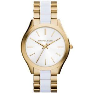 【送料無料】腕時計 ウォッチミハエルステンレスレディースホワイトゴールドmichael kors uhr mk4295 runway damenuhr wei gold edelstahl lady watch neu amp; ovp