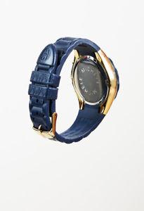 腕時計 ウォッチミケーレタヒチアンジェリービーンゴールドトーンメタルブラックラバーウォッチ