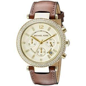 【送料無料】腕時計 ウォッチミハエルパーカーアナログアナログクォーツウォッチmichael kors womens mk2249 parker analog display analog quartz brown watch