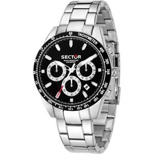 【送料無料】腕時計 ウォッチセクタークロノサブメートルorologio uomo sector 245 r3273786004 chrono bracciale acciaio nero sub 100mt