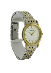 【送料無料】腕時計 ウォッチラウンドアナログゴールドシルバーステンレススチールウォッチbulova 98v29 womens round analog gold amp; silver tone stainless steel watch