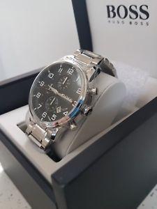 腕時計 ウォッチヒューゴボスエアロシールドボックスタグhugo boss aeroliner  watch box 100 genuine 1512446   tags amp; warranty
