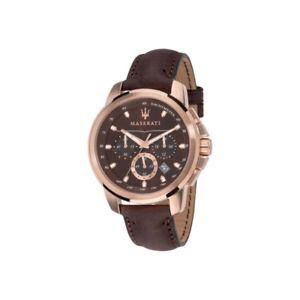 【送料無料】腕時計 ウォッチオロロジオマセラティマセラティエッソユーザーブラウンレザーorologio maserati successo r8871621004 brown leather