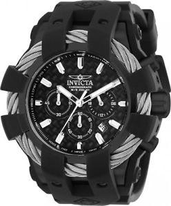 腕時計 ウォッチボルトクロノクオーツステンレススチールブラックシリコンウォッチ