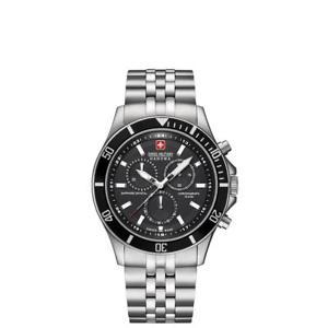 【送料無料】腕時計 ウォッチスイスミリタリーメンズアナログswiss military hanova mens flagship 42mm quartz analog watch 065183704007