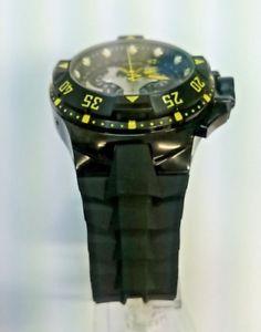 送料無料 腕時計 ウォッチメンズブラックラバーストラップスイスクオーツウォッチPuTZwkOXi