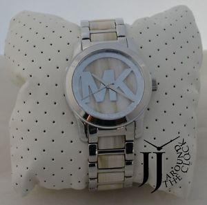 【送料無料】腕時計 ウォッチミハエルアラバスターアセテートステンレススチールブレスレット michael kors runway alabaster acetate stainless steel bracelet watch mk5787