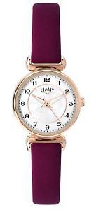 【送料無料】腕時計 ウォッチレディースローズゴールドトーンストラップlimit ladies rose gold tone watch with thin plum strap 6212