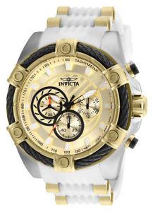 腕時計 ウォッチメンズボルトクロノスチールホワイトポリウレタンシリコンウォッチinvicta mens bolt chrono 100m s steel white polyurethanesilicone watch 25528