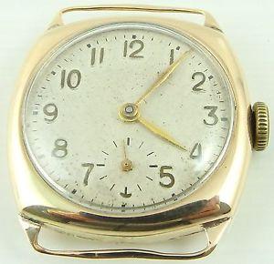 【送料無料】腕時計 ウォッチヴィンテージゴールドクッションケーススイスvintage 9ct gold cushion case gents 15jewel swiss gents wristwatch working order